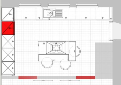 Küchenplanung 2. Versuch mit neuem Grundriss | Küchenausstattung ... | {Küche mit kochinsel grundriss 93}