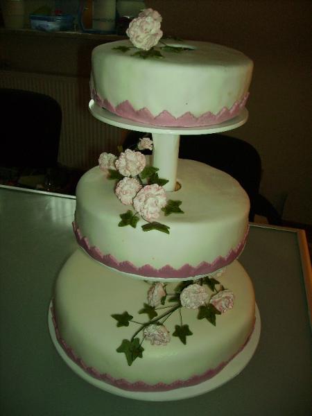 3 Stöckige Torte Zur Diamant Hochzeit Mit Nelken Motivtorten Fotos