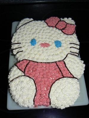 Kuchen verzieren hello kitty