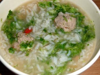 Tschohk dicke thailändische Reissuppe 1801973070