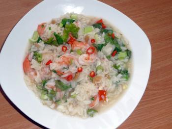 Tschohk dicke thailändische Reissuppe 2648536905