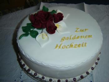 Zur Goldenen Hochzeit Motivtorten Fotos Forum Chefkochde