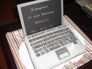 laptop kuchen backen