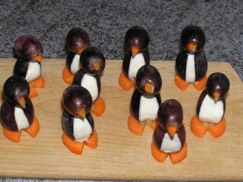 Pinguine Trauben Frischkäse Mega niedlich einfach 3865223235