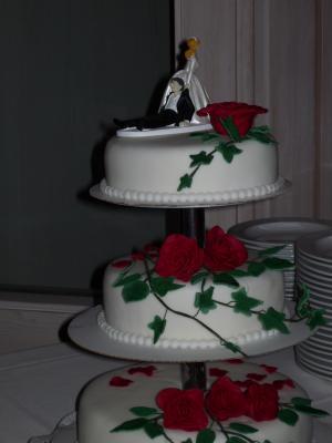Meine 1 Hochzeitstorte Auf Der Etagere Motivtorten Fotos Forum