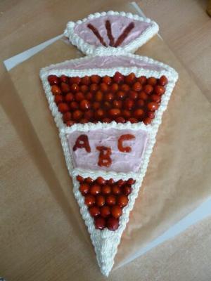 Resultat Erdbeer Sahne Schultütenkuchen Torten Kuchen Forum
