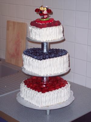 Hochzeitstorte ohne fondant und marzipan