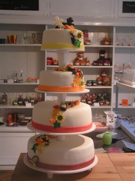 Herbstliche Hochzeitstorte Motivtorten Fotos Forum Chefkoch De