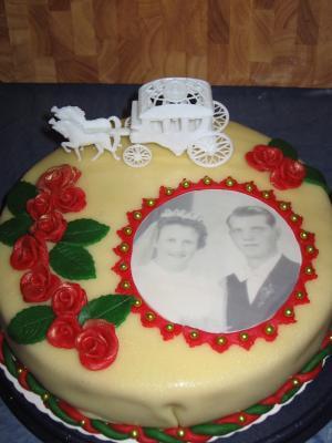 Meine Neue Torte Für Eine Goldene Hochzeit Motivtorten