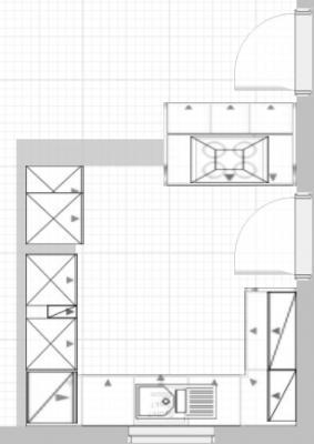 Insel in 3.10m breiter Küche? - Abstand von 80 bzw. 70 cm ... | {Moderne küchen mit kochinsel grundriss 95}