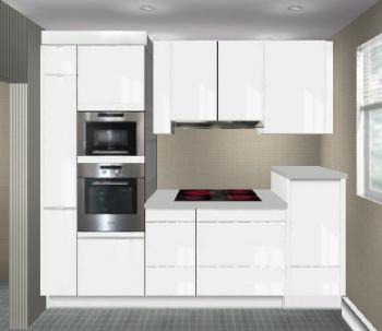 nischenh he ber 99cm hoher arbeitsplatte bzw unterkante oberschr nke k chenausstattung. Black Bedroom Furniture Sets. Home Design Ideas