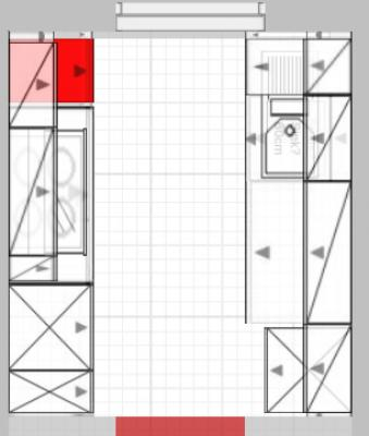 Nischenhöhe über 99cm hoher Arbeitsplatte bzw. Unterkante ...