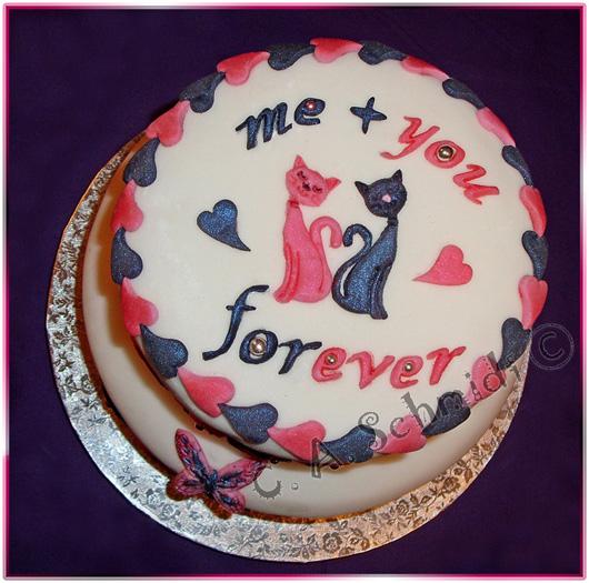 Valentinstag torte mit foto