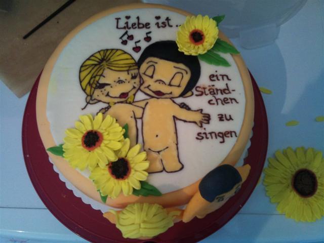 Liebe Ist Mit Sonnenblumen Paris Aufleger Torte Mit Bett Usw