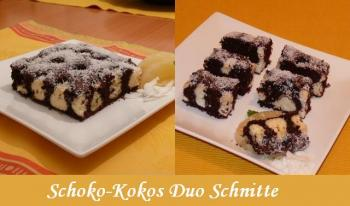 schoko kokos duo schnitten ein unwiderstehliches duo herrlich schokoladiger r hrkuchen mit. Black Bedroom Furniture Sets. Home Design Ideas
