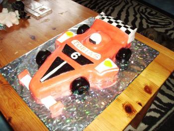 Formel Rennwagen Torte Geburtstag riesigen Ferrari Fan Foto 3068315416