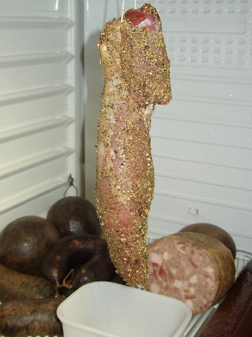 Hobbyko erster Versuch Schinkenspeck Filet vakuum pökeln 1902868400